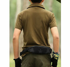 Men's Nylon Antitheft Star Travel Hiking Belt Bum Fanny Pack Gym Sport Waist Bag