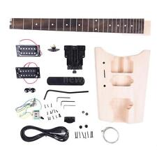 Unfinished Electric Guitar DIY Kit Basswood Body Rosewood Fingerboard New U2F4