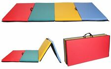 """NEW 4'x8'x2"""" Thick Folding Panel Gymnastic Tumbling Martial Arts Exercise Mats56"""