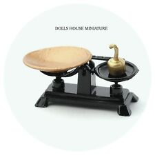 Black & Gold Weighing Scales Dolls House Miniature Kitchen Accessory 1:12 Scale