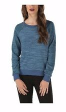 VANS PARKER TUNIC PULLOVER CREW NECK SWEATER SWEATSHIRT TOP WOMENS L LARGE BLUE