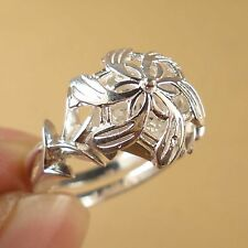 New LORD OF THE RINGS NENYA GALADRIEL'S Elven 925 Sterling Silver Ring Size 8.5