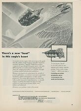1952 Lycoming Engine Ad Aviation Engine in Soaring Eagle Artwork