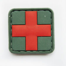 MEDIC RED CROSS PARAMEDIC TACTICAL ARMY MORALE 3D PVC PATCH #54