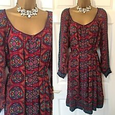 Monsoon DRESS SIZE 14/16 M Embroidered Party Summer Sun Holiday Boho Hippy,