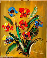 WILD FLOWERS   MODERN ART ORIGINAL OIL  IMPRESSIONISM Abstract, Oil, signed