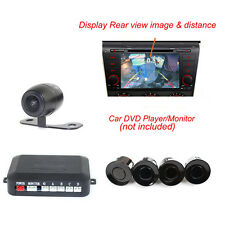 Reverse Car Parking System with 4 Sensors + 170 Degree CMOS Rear View Camera