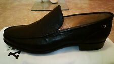 $505 NIB Authentic BALLY Made in SWITZERLAND Black Leather Dress Loafer Sz.43 FS