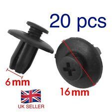 20 X puerta de automóvil recortar Fender 6mm agujero plástico a presión en Remaches Sujetadores. vendedor del Reino Unido.