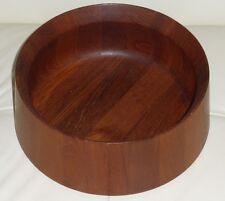 """Mid Century Large Dansk Designs Wooden Salad Bowl - 10.5"""""""