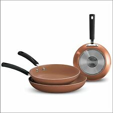 Tramontina Ceramic-Reinforced Nonstick Fry Pans, Set of 3,  Copper - NO TAX