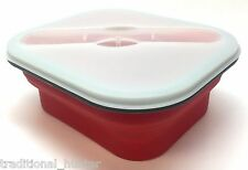 Fresh 2 Go Collapsible Silicone Food Container 3 Piece with Utensil 22195