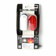 Cateye HL-EL135 - White Omni 3 Cycling Safety Front + Rear Light Set - White