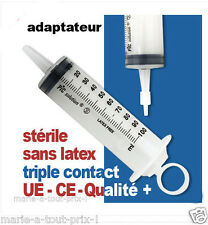 Grosse Seringue pour lavements 16cm STERILE + EMBOUT triple contact grande capac