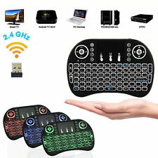 2X 3color Backlight i8 Wireless Keyboard 2.4GHz Keyboard Remote Control Touchpad
