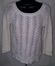 Dream Out Loud by Selena Gomez Junior's Off White See-Thru Sweater Size XL