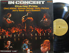In Concert (2 LP) Charley Pride,Chet Atkins,Jerry Reed,Dolly Parton,Gary Stewart