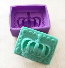 Stylish Silicone Crown Handmade Soap Mold Fondant Ice Candle Cake Baking Moulds