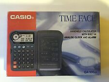 Rare! NEW IN BOX Casio QA-100 Time Face Pocket Time Calculator with Instructions