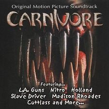 Carnivore - Original Motion Picture Soundtrack; 2002 CD, L.A. Guns, Nitro, Slave