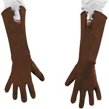 Childs Brown CAPTAIN AMERICA Gloves Long Gants Boys Costume Accessory