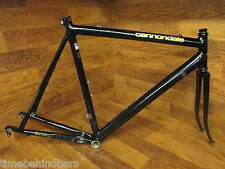 RARE VINTAGE CANNONDALE 3.0 SERIES BLACK LIGHTNING 56CM ROAD BIKE FRAME SET