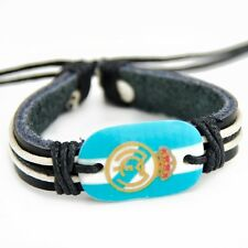 Real Madrid logo football fans leather bracelets S-261