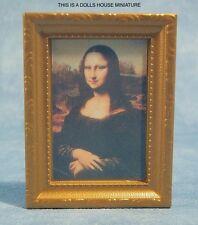 INCORNICIATO QUADRO DELL' Mona Lisa, DOLLS HOUSE miniatura 1:12 TH scala
