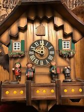 LARGE GERMAN AUTOMATA MUSICAL CUCKOO CLOCK With MUSICIANS RESTORATION NEEDED