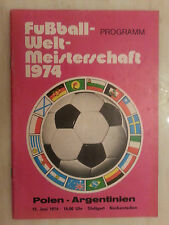 1974 World Cup Programme: POLAND v ARGENTINA - 15th June (very rare)