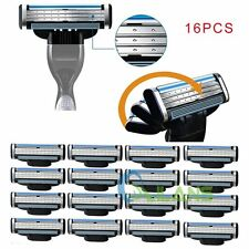 16Pcs Generic Replacement Blades Cartridges for Gillette Mach 3 Shaving Razor