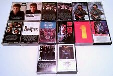 (15) THE BEATLES - CASSETTE TAPES  (MCCARTNEY HARRISON STARR LENNON WINGS)