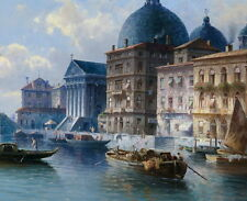 Art Canvas Print Venice Oil painting Picture Printed on canvas 12X16 Inch P270