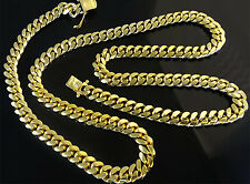 "14K Miami Cuban Link Chain Solid Gold, 26"" 6.9 MM 94.5 Grams Heavy Necklace Men"