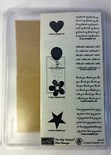 Stampin Up 2004 Two-Step Mini Messages Set 8 New Unmounted Rubber Stamp Retired