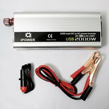 2000W Converter Car Power Inverter DC 24V to AC 220V 230V 240V with USB Port