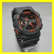 New Casio G-Shock GA-110TS-1A4 Matte Dark Grey Orange XL Water Resist LED Watch