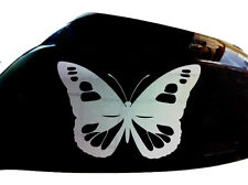 Butterfly Girl Car Stickers Wing Mirror Styling Decals (Set of 2), Chrome