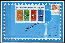 ISRAEL 1972 MUNICH OLYMPICS PUBLICITY SHEET DEPICTING SIGNATURES OF THE TEAM