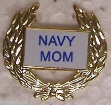 Hat Lapel Push Tie Tac Pin Navy Mom NEW