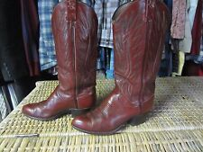 POLO Ralph Lauren vintage RED-brown leather COWBOY BOOTS womens 6.5 C western RL