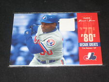 TIM RAINES EXPOS LEGEND FLEER CERTIFIED AUTHENTIC GAME USED JERSEY CARD RARE