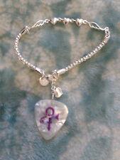 """New Guitar Pick """"Loving ' Prince Logo Visual Bracelet Tour pick"""