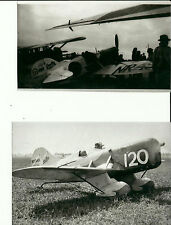 "SET OF 2: GEE BEE LOT #45 - 4"" X 6"" BLACK & WHITE AIRPLANE PRINTS"