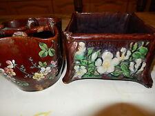 vase et cache-pot barbotine ,tres anciens