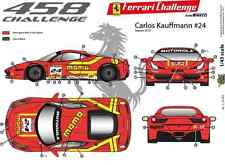 [FFSMC Productions] Decalcomanie 1/43 Ferrari F-458 Sfida 2012 Momo