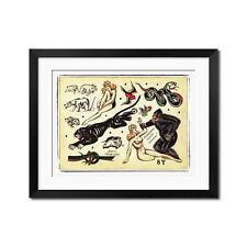 Sailor Jerry Vintage Old School Tattoo Flash King Kong Poster Print