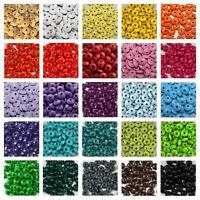 50 Holzlinsen zum Fädeln / 10 mm / Speichelfest nach DIN EN 71-3 / Farbwahl