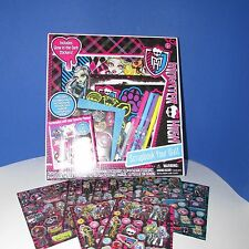 NEW Monster High Scrapbook Your Wall set kit glow in dark stickers gems frames
