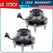 Pair Of 2 New Front Wheel Hub Bearing Assembly For Malibu Aura G6 w/ ABS 5 Lug